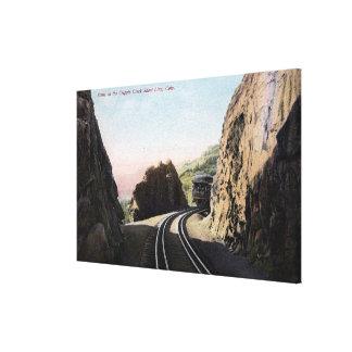 The Short Line Railroad Car Canvas Print