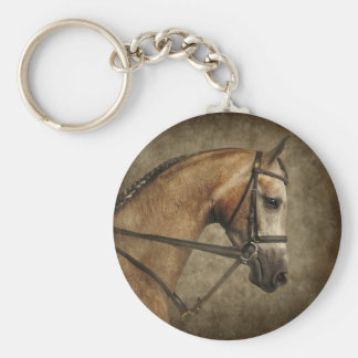 The Show Horse Basic Round Button Key Ring
