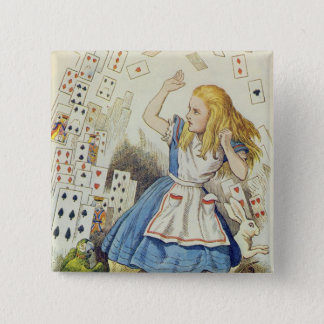 The Shower of Cards 15 Cm Square Badge