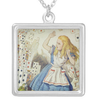 The Shower of Cards Silver Plated Necklace
