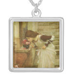 The Shrine by JW Waterhouse, Vintage Victorian Art Necklace