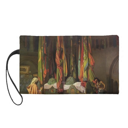 The Shrine of Imam Hussein by Jean-Leon Gerome Wristlet Purse