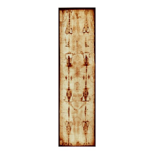 The Shroud of Turin Linen Cloth Jesus Image Poster