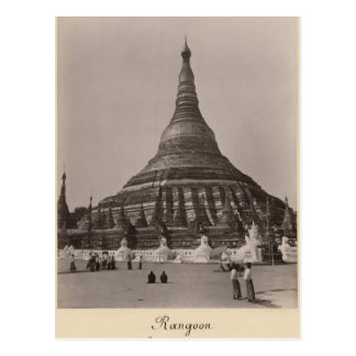 The Shwedagon Pagoda at Rangoon, Burma, c.1860 Postcard