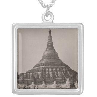 The Shwedagon Pagoda at Rangoon, Burma, c.1860 Silver Plated Necklace