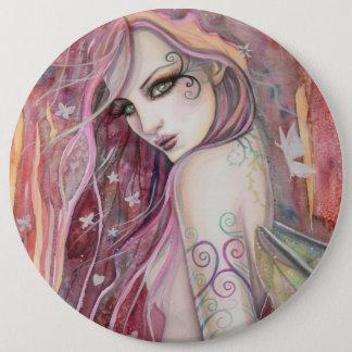 The Shy Flirt Modern Fairy Fantasy Art 6 Cm Round Badge