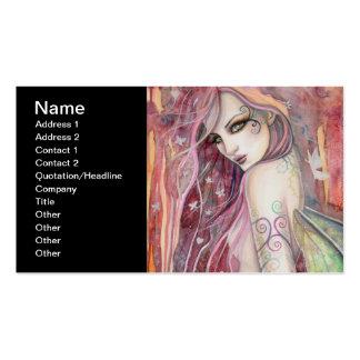 The Shy Flirt Modern Fairy Fantasy Art Pack Of Standard Business Cards
