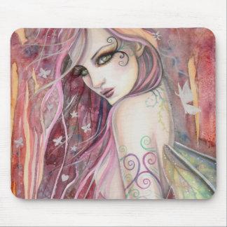 The Shy Flirt Modern Fairy Fantasy Art Mouse Mat