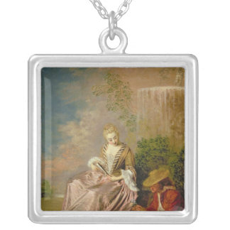 The Shy Lover, 1718 Silver Plated Necklace