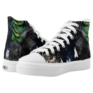 The Shy Peacock High Tops
