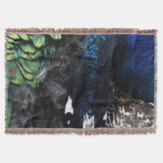 The Shy Peacock Throw Blanket