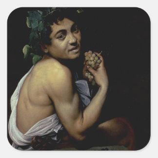 The Sick Bacchus, 1591 Square Sticker