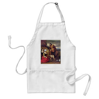 The Sick Goat By Dujardin Karel (Best Quality) Adult Apron