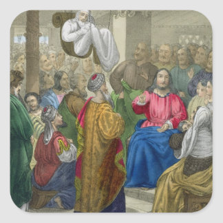 The Sick of the Palsy Brought to Christ by his Fri Square Sticker
