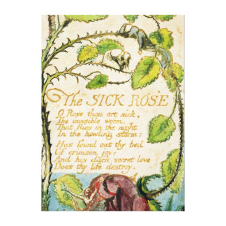 The Sick Rose, from Songs of Innocence Canvas Print