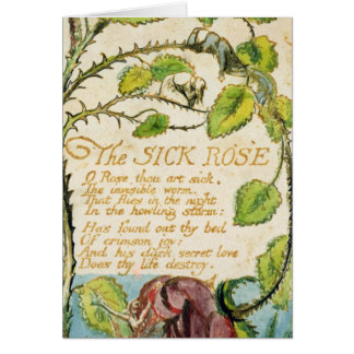 The Sick Rose, from Songs of Innocence Card