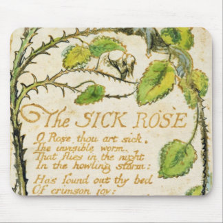 The Sick Rose, from Songs of Innocence Mouse Mat