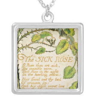 The Sick Rose, from Songs of Innocence Silver Plated Necklace