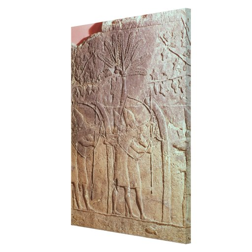 The Siege of Alammu by the army of Sennacherib Stretched Canvas Print