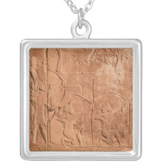 The Siege of Alammu by the army of Sennacherib Silver Plated Necklace