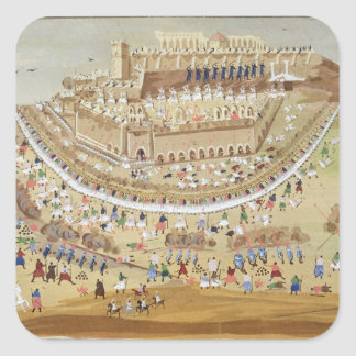 The Siege of Athens in 1827, from the Pictorial Hi Square Sticker