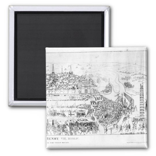 The Siege of Boulogne by King Henry VIII Square Magnet