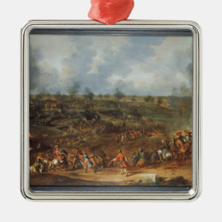 The Siege of Namur, 1692, 18th century Silver-Colored Square Decoration