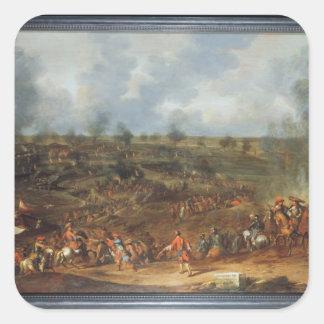 The Siege of Namur, 1692, 18th century Square Sticker