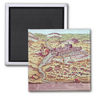 The Siege of St. Quentin, 27th July 1557 Square Magnet