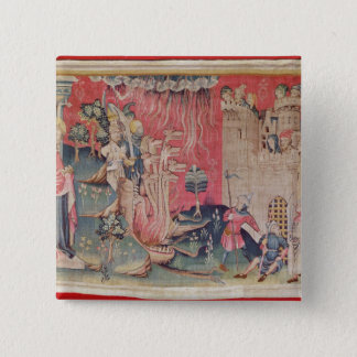 The Siege of the Town 15 Cm Square Badge
