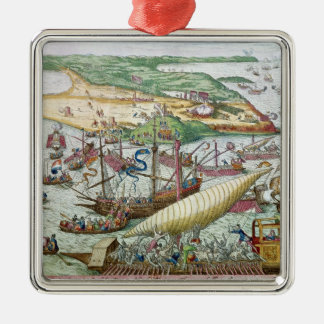 The Siege of Tunis or La Goulette by Charles V Christmas Ornament