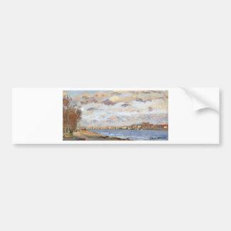 The Siene at Argentuil by Claude Monet Bumper Sticker