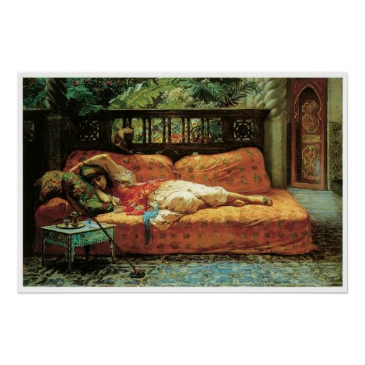 The Siesta (Afternoon in Dreams), 1878 Poster
