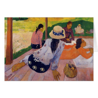 The Siesta - Paul Gauguin Card