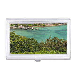 The Sightly Bay Of Antigua Business Card Holder