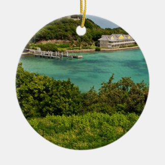 The Sightly Bay Of Antigua Round Ceramic Decoration