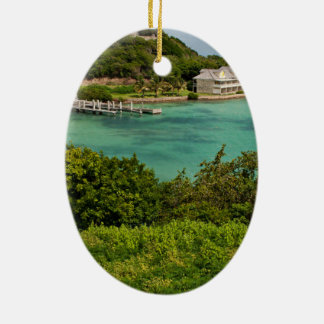 The Sightly Bay Of Antigua Ceramic Oval Decoration