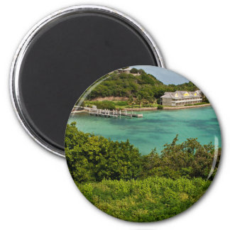 The Sightly Bay Of Antigua 6 Cm Round Magnet