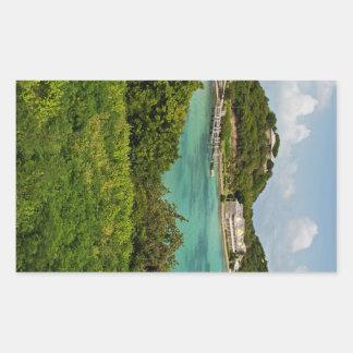 The Sightly Bay Of Antigua Rectangular Sticker