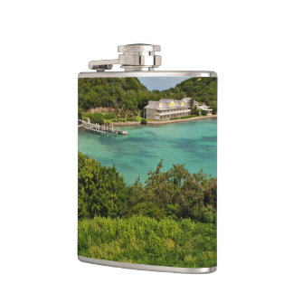The Sightly Bay Of Antigua Hip Flask