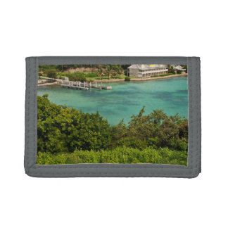 The Sightly Bay Of Antigua Tri-fold Wallet