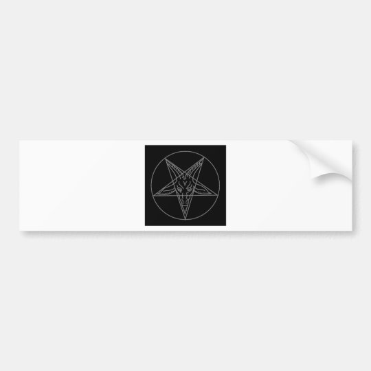 The Sigil of Baphomet Bumper Sticker