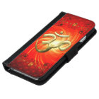 The sign om in gold iPhone 6 wallet case