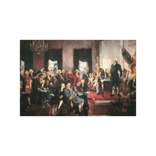 The Signing of the Constitution Gallery Wrapped Canvas