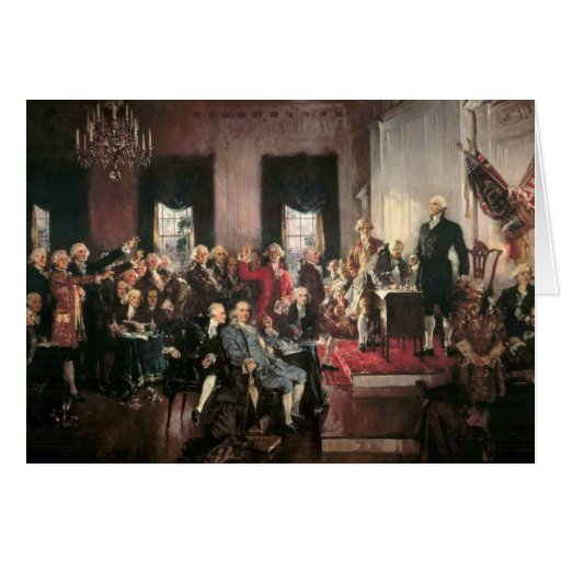The Signing of the Constitution Cards