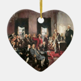 The Signing of the Constitution Ceramic Heart Decoration