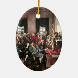 The Signing of the Constitution Ceramic Oval Decoration