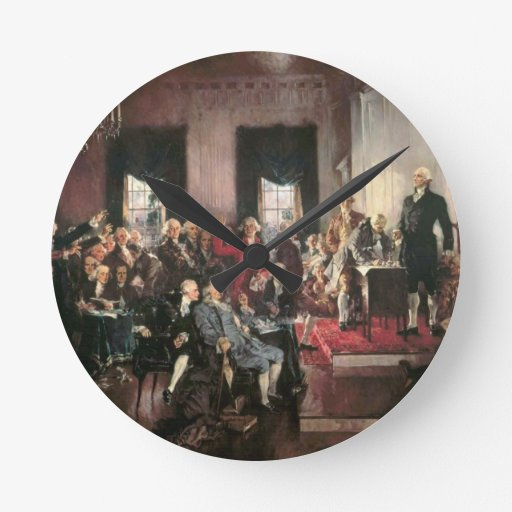The Signing of the Constitution Wallclocks
