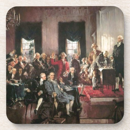 The Signing of the Constitution Drink Coaster