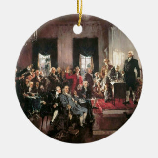 The Signing of the Constitution Christmas Tree Ornament